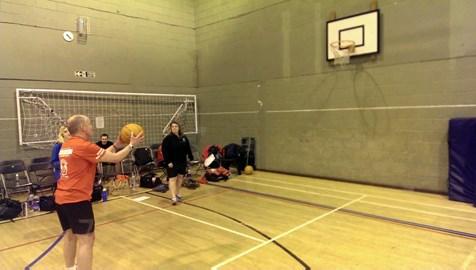 Gareth showing his basketball skills