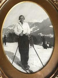 My grandmother skiing in Switzerland in 1931