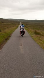 Max on the Isle of Harris during John O Groats to Lands End