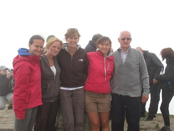 Alan's family at summit of Ben Lomond