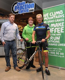 Chain Reaction are supporting Macmillan by providing Trevor with his bike and clothing!