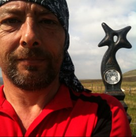 This was taken after climbing Rhiw Fawr from Macynlleth. Phew!!