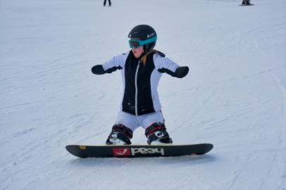 Ellie here is 14 years old. The 1st quadruple amputee snowboarder in the UK