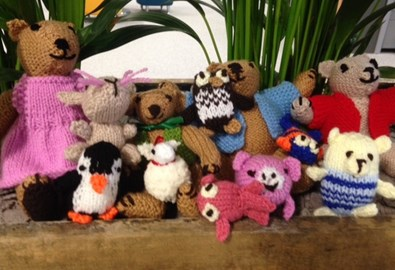 Raised £46 from selling knitted toys