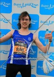 Taken after the race, sans medal