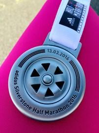 Silverstone Half marathon Finisher Medal - 2hrs 36mins