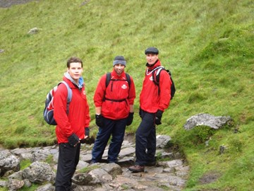 Some of the team on Scafell Pike in June