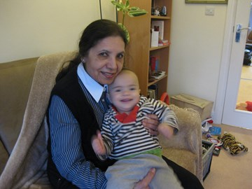 My mum and my son