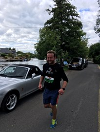 Giles tiring after 43 miles of the Windsor Ultra