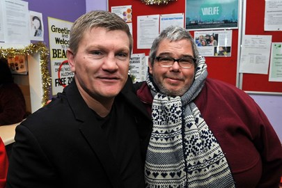 Ricky Hatton at our Drop-in
