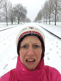 10th December 8 miler in the snow - GRIM!