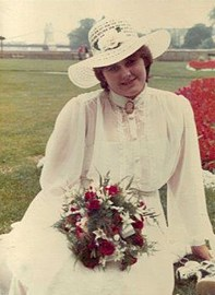 Karen August on her Wedding Day
