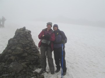 Snow at the top!