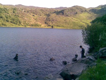 Swimming in Llyn Dinas, May 2011