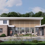 Front elevation of new wellness centre Hub on Rye Hill