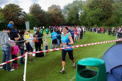 Karen the finish line