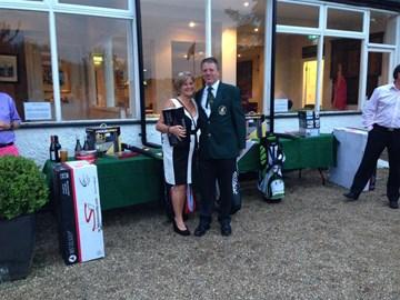 Captain & lady winner on Captain's Day