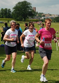 Sian and Carol running