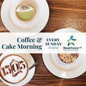 Join us at Cafe1505 for coffee & cake every Sunday. £1 from each sale will go towards saving lives