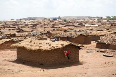 View of Dzaleka Refugee Camp