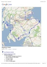 5th June - Day 5 the route so far