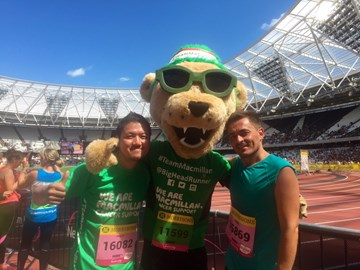 With the Team Macmillan Mascot!