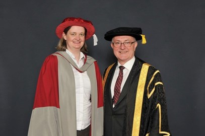 With Geoff after my PhD graduation.