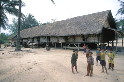 The Longhouse people in Laos