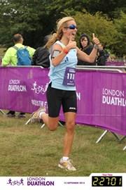 Miriam completes the 2013 London Duathlon