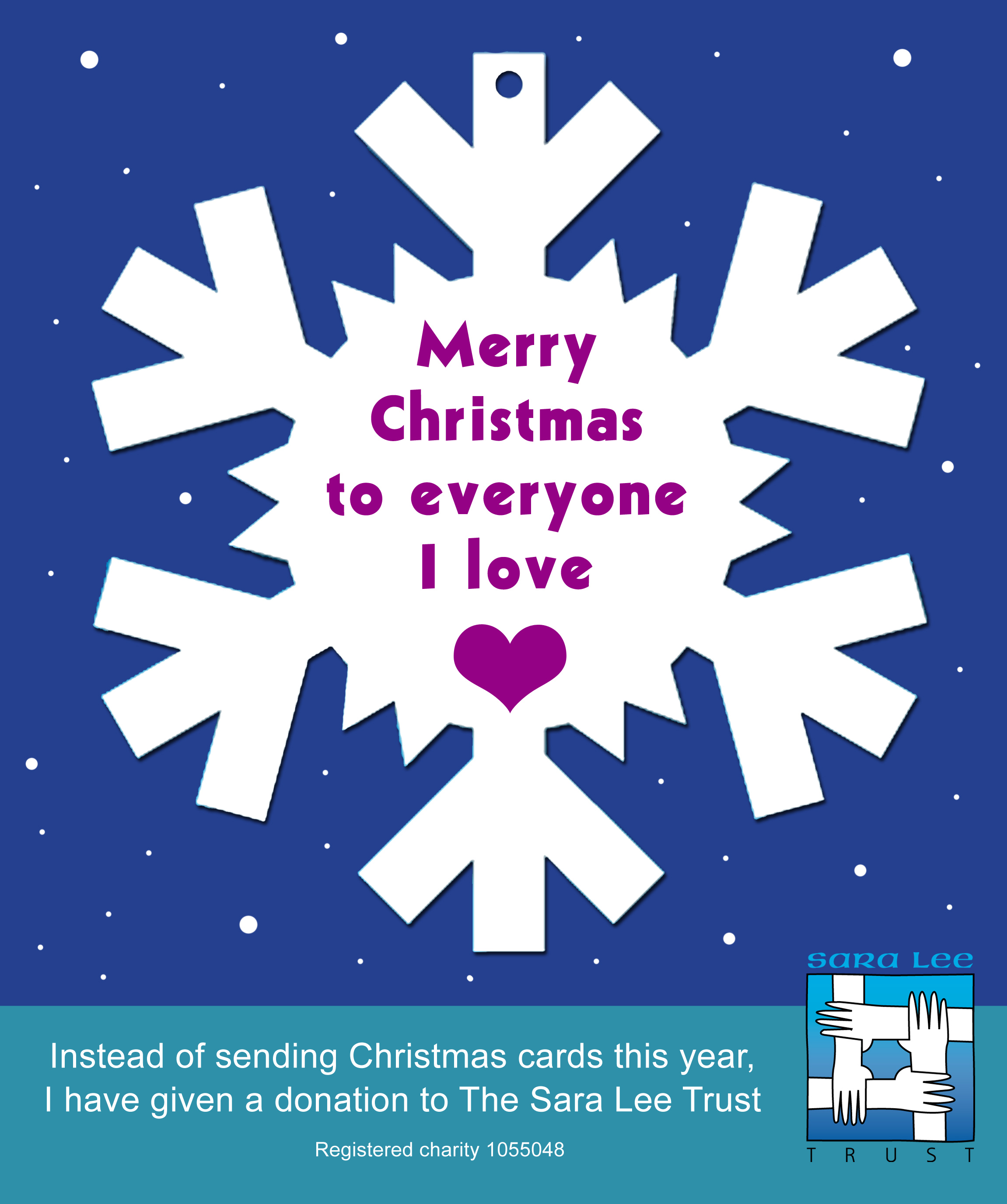 One Snowflake Can Say It All This Christmas Justgiving