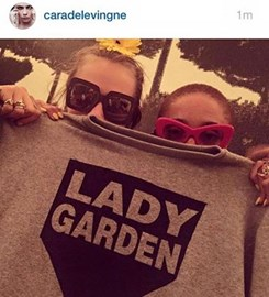 Cara Delevigne is also on board and supporting our ‪#‎ladygardencampaign‬ and ‪#‎gynaecologicalawarenessmonth
