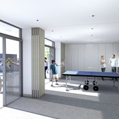 Activity room and external space
