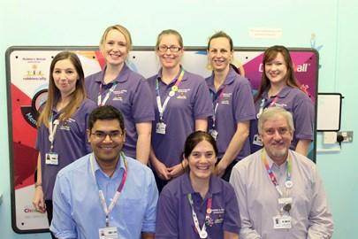 The Robbie's Rehab team at Southampton Hospital