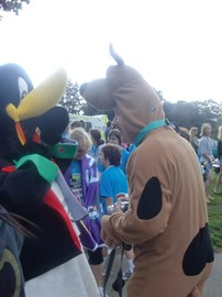 Percy was joined by Scooby Doo