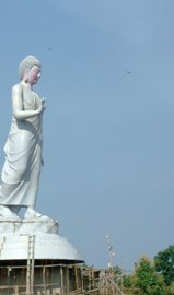 Big Buddha at Nagaloka, before painting