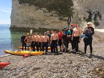 The Boom Patrol team conducting pre-deployment training on the sunny Isle of Wight
