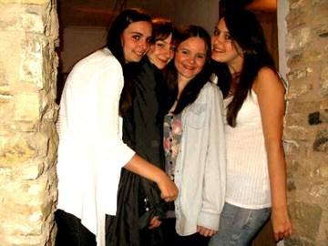 Georgie, Mell, Abbie and Jess