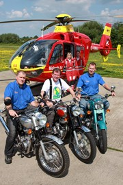Ian, Rob and Ben from Royal Enfield