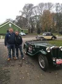 The very kind John Lomas of Blue Diamond Riley Services- who has lent us the car