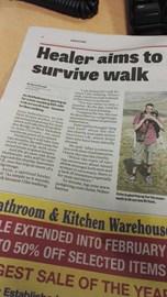 Healer aims to survive walk