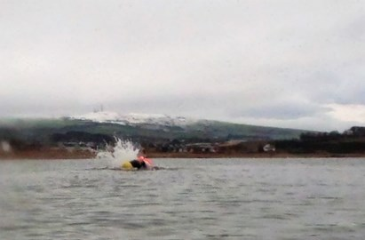 Training offshore in an Ayrshire winter