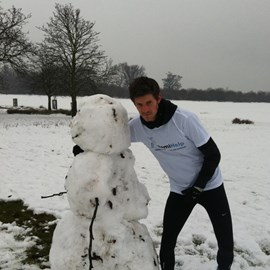 A very chilly run around Richmond Park this morning. Met a character on the way.