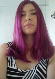 I dyed my hair Purple and pink for Baby Tilda.