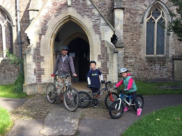 Starting off at All Saints' Stone