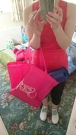 Sassy Spirit Bag on the way to the Gym with Belinda
