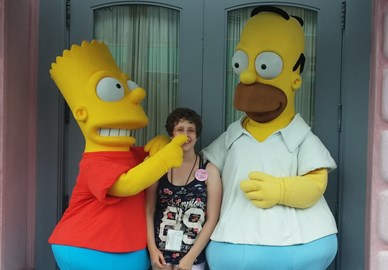 Me and The Simpsons!!