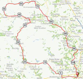 Cycle challenge route