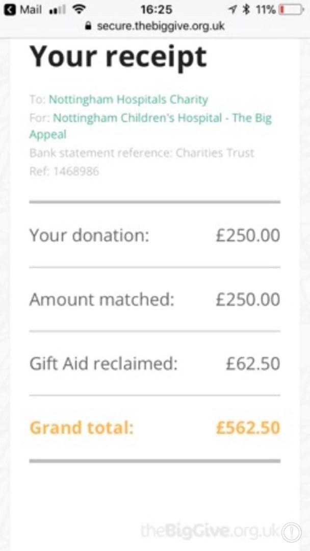 Ashley brice is fundraising for nottingham university hospitals charity negle Gallery