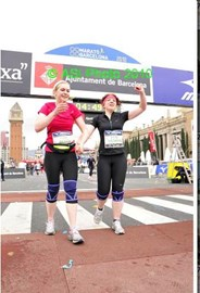 crossing finish line!