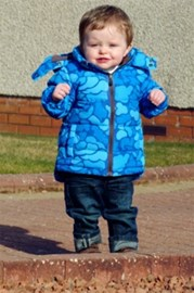 Ollie in his new jacket